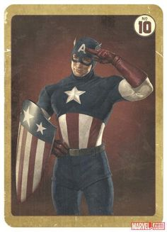 Captain America trading card from Avengers.