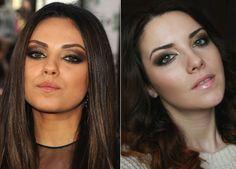 Mila Kunis Smoky Eye Makeup Tutorial Step by Step