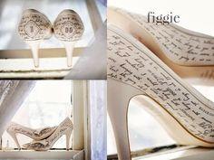 Personaliza tus Zapatos de Novia ... pintados a mano ...