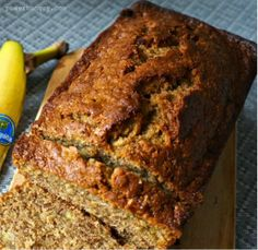 Chickpea Flour Banana Bread {Gluten-Free, Grain-Free}. Made with split pea flour. Yummy and moist!
