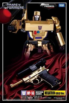 You can't go wrong with the leader of Decepticons! For the fan of Megatron, this is a must have Anniversary edition!  Ages Three And Up - Transformers Masterpiece 30th Anniversary Exclusive MP-05G Megatron Gold Version With Reflector, USD $199.95 (http://www.agesthreeandup.com/transformers-masterpiece-30th-anniversary-exclusive-mp-05g-megatron-gold-version-with-reflector/)