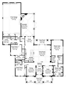 Prairie Pine Court Home Plan | Sater Design Collection | Luxury House Plans