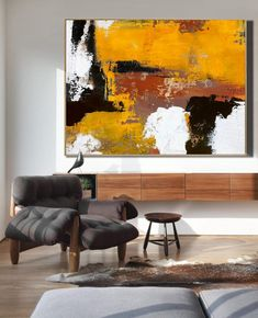Original Burnt Orange Abstract Painting,Black White Abstract On Canvas Painting,Orange Painting,Large Wall Canvas Painting,Living Room Art Orange Painting, Blue Abstract Painting, Oil Painting On Canvas, Canvas Artwork, Your Paintings, Beautiful Paintings, Original Paintings, Large Wall Canvas, Black And White Abstract