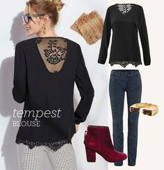Great blouse, the lace details and length are to die for!  I could see myself wearing this for NYE with some skinnies, booties and a great jacket!