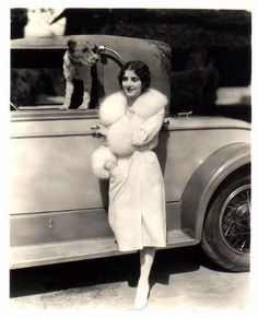 Marceline Day with Wire Fox Terrier
