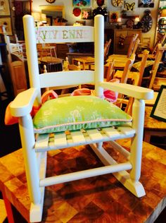 Handpainting and Custom cushion by Woods and Company!