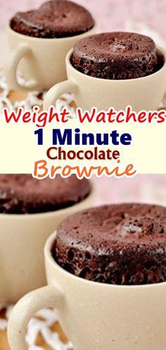 47 ideas simple weight watchers meals healthy for 2019 Ww Desserts, Health Desserts, Dessert Recipes, Plats Weight Watchers, Weight Watchers Desserts, Weight Watcher Mug Cake, Mug Recipes, Smoothie Recipes, Recipies