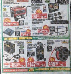 Harbor Freight Black Friday 2017 Ads and Deals Harbor Frieght offers affordable tools of all kinds, including power tools, air tools and hand tools. During Harbor Freight Black Friday 2017 Sale, sh. Harbor Freight Tools, Black Friday Ads, Fashion Hub, Mounted Tv, Air Tools, Power Tools, Coupons, Gas Generator, Electrical Tools