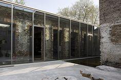 Rough brick walls + sleek windows. Warehouse conversion by Belgian studioAtelier d'Architecture Bruno Erpicum & Partners.