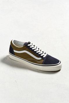 4e49e9ce8dc Slide View  2  Vans Old Skool 36 DX Navy + Olive Sneaker Vans Old