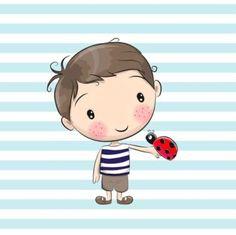 Cartoon Drawings, Easy Drawings, Drawing For Kids, Art For Kids, Cute Cartoon Boy, Baby Painting, Doodle Art, Little Boys, Cute Kids