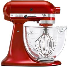 KitchenAid Mixer - like red, but also green, and aqua...too many choices!  Glass mixing bowl is great too!