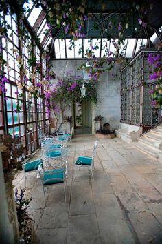 Invernadero de la casa del chorro del Salt Alicante, Patio, Outdoor Decor, Home Decor, Home, Green Houses, Paths, Decoration Home, Fiestas