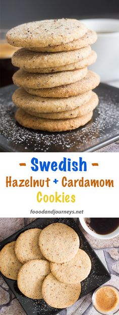 Looking for something different for your afternoon coffee or tea? Give these Swedish cookies a try! 'Hazelnut & Cardamom Cookies' will surely satisfy your sweet tooth! Swedish | Recipe | Scandinavian Recipe | Swedish dessert. #cookie #hazelnutcookies #hazelnut #cardamom #snack #swedishrecipe #swedishcuisine