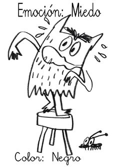 ¿Qué puedo hacer hoy?: Emociciones de colores V: Negro-Miedo Emotions Preschool, Preschool Art, Teaching Emotions, English Activities, Activities For Kids, Counseling Crafts, Behavior Interventions, Feelings And Emotions, Yoga For Kids