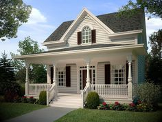 Attractive Cozy Cottage - 31059D | Cottage, Country, Narrow Lot, 2nd Floor Master Suite, CAD Available, PDF | Architectural Designs