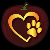 Paw Print Heart - Pumpkin Stencil