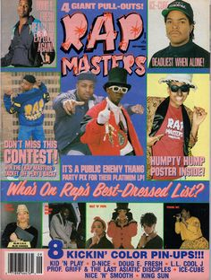 hip hop Rap Masters, September 1990 12 Magazine Covers That Perfectly Sum-Up Hip-Hops Golden Era Hip Hop And R&b, 90s Hip Hop, Hip Hop Outfits, Hipster Outfits, Magazin Covers, By Any Means Necessary, Neo Soul, Hip Hop Art, Hip Hop Fashion