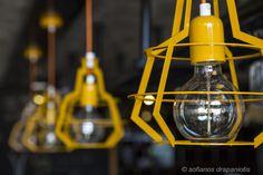 lights-handmade (iron) Espresso, Light Bulb, Cocktails, Iron, Lights, Bar, Handmade, Design, Home Decor
