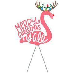 Silhouette Design Store: Merry Christmas Y'all Flamingo Image of design Merry Christmas, Coastal Christmas, Pink Christmas, Christmas Holidays, Christmas Crafts, Christmas Flamingo, Beach Christmas Ornaments, Christmas Labels, Christmas Quotes