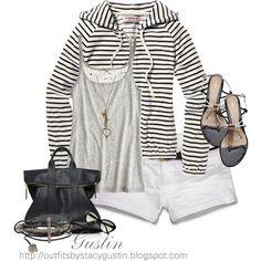 stripe hoodie - Polyvore