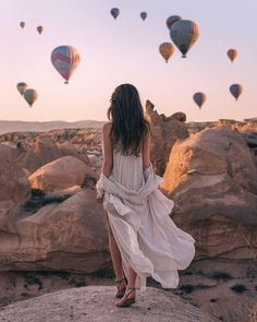 Pure Romance: Cappadocia Wedding Day Photos ❤ cappadocia wedding photos girl at the rock beautiful view Looking for the wedding photo ideas? You will definitely fall in love with Cappadocia wedding day photos! Read our inspiring post! Places To Travel, Places To Go, Wedding Photos, Wedding Day, Wedding Bride, Wedding Tips, Cappadocia Turkey, Cappadocia Balloon, Pure Romance