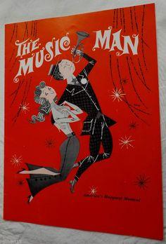 Original The Music Man Musical Broadway Show Program Souvenir Robert Preston