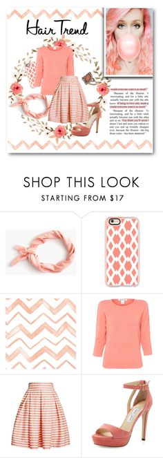 """Hair Trend: CORAL"" by lalalaballa22 ❤ liked on Polyvore featuring beauty, J.Crew, Casetify, Belford, Rumour London, Jimmy Choo, Dorothy Perkins, hairtrend and rainbowhair"