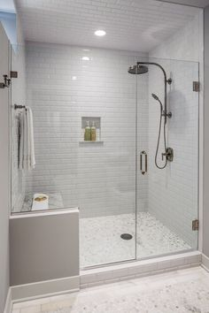See great bathroom shower remodel ideas from homeowners who have successfully tackled this popular project. Read to learn more about all the planning that goes into a shower remodel and how to decide whether to do the work yourself or hire a professional. Shower Remodel, Bath Remodel, Restroom Remodel, Beautiful Bathrooms, Modern Bathroom, Small Bathrooms, Modern Shower, Simple Bathroom, Tiled Bathrooms