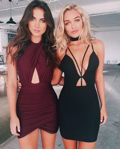 Wine and black dresses
