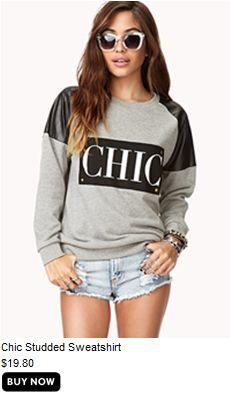 Chic sweatershirt