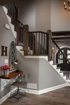 Wall paint color is Sherwin Williams Acier SW9170. Trim paint color is Sherwin Williams Extra White SW 7006. by sasha