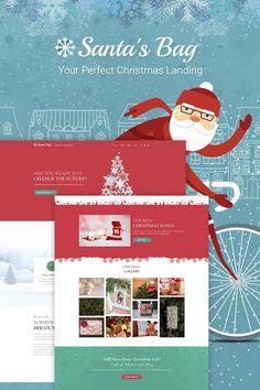 Santa's Bag - Christmas Landing WordPress Theme #66026