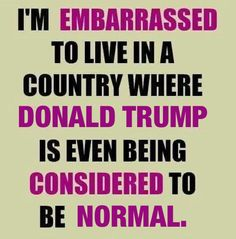 Trump is a corrupt racist bigot, a typical republican candidate.