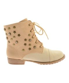Look what I found on #zulily! Natural Star Stud Minzy Ankle Boot #zulilyfinds