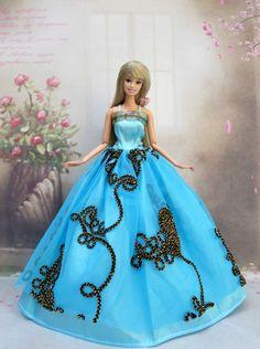 Barbie Doll Blue Dress