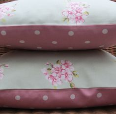 2 Shabby Chic Cushion Covers Pillow Covers 16 by AllTheTrimmingsUK