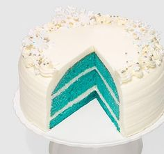 Holiday Blue Velvet Cake