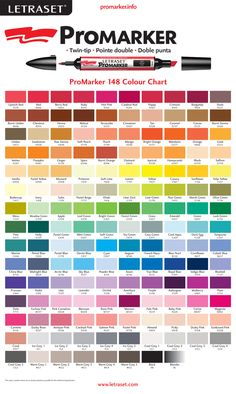 Promarker Color Chart Color And Drawing Inspiration