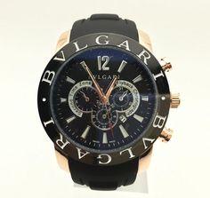 91339965b54 Black and Gold BVLGARI Watch for Men