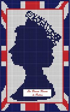 Queen cross stitch pattern
