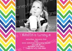 Rainbow Chevron Girl Birthday Sweet 16 Teen Photo by macmap81, $10.00