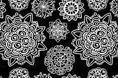 Mandala seamless pattern vector by Art By Silmairel on @creativemarket