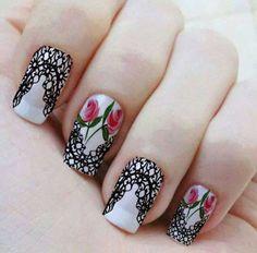 pelicula de unha renda - Pesquisa Google Pedicures, Manicure And Pedicure, Fabulous Nails, Nails Design, All The Colors, Ideas Para, Nail Art, Beautiful, Beauty