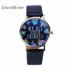 CocoShine A-912   Women vogue Leisure Fashion Collocation Letters Leather Watch wholesale Free shipping #Affiliate