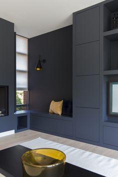 Built In Furniture, Custom Furniture, Home Living Room, Living Room Decor, Living Room Storage, Beautiful Houses Inside, Casa Milano, Home Room Design, Home Office Decor