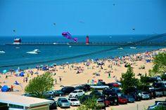 Grand Haven, MI: The 24th annual Great Lakes Kite Festival.