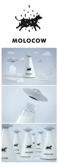 Molocow - The bottles of milk that are packaged so special, they look out of this world!