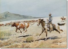 Google Image Result for http://prints.encore-editions.com/500/0/edward-borein-the-pinto-horse-original-size-6x9-watercolor.jpg