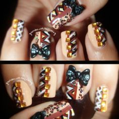 Nail Art How To: Fall Blocking Japanese Hime 3D Bow Nail Art by Madjennsy